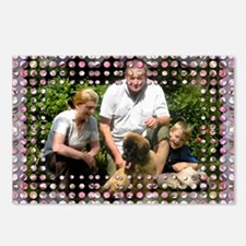 Personalizable Pink Bling Frame Postcards (Package