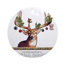 Whitetail Deer Round Ornament