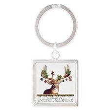 Whitetail Deer Square Keychain