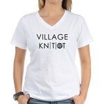 Village Knitiot Women's V-Neck T-Shirt