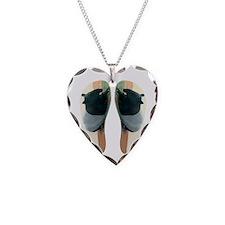 TapirWA Flip Flops Necklace Heart Charm