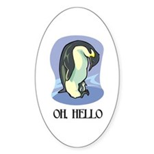 """Oh, Hello"" Oval Decal"