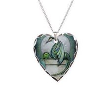 green dragon 2 zaz Necklace Heart Charm