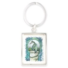 green dragon no background Portrait Keychain