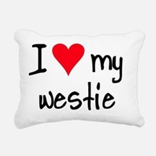 iheartwestie Rectangular Canvas Pillow