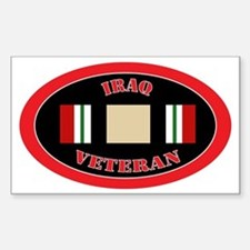 Iraq-0-oval Sticker (Rectangle)