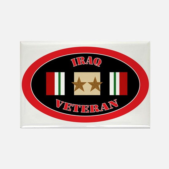 Iraq-2-oval Rectangle Magnet