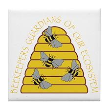 beekeepers dark Tile Coaster
