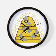 beekeepers dark Wall Clock