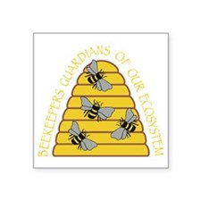 "beekeepers dark Square Sticker 3"" x 3"""