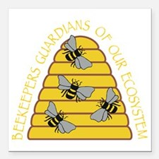 "beekeepers dark Square Car Magnet 3"" x 3"""