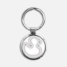 Dizzy Duck 2 Round Keychain