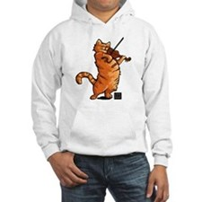 Fiddling Cat only tee shirt Hoodie