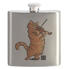 Fiddling Cat only tee shirt Flask