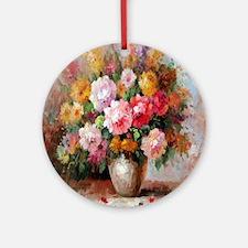 flower013 Round Ornament