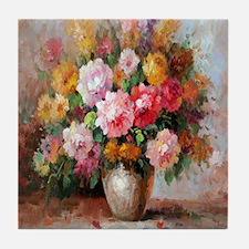 flower013 Tile Coaster