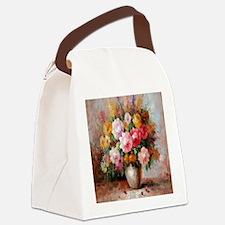 flower013 Canvas Lunch Bag