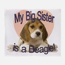 beagle sis.gif Throw Blanket
