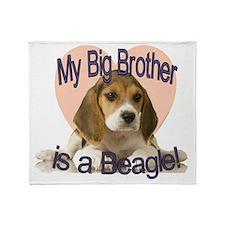 beagle bro.gif Throw Blanket