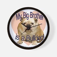 bulldog bro.gif Wall Clock