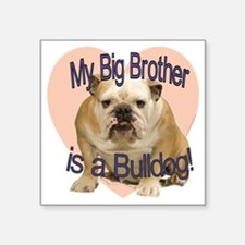 "bulldog bro.gif Square Sticker 3"" x 3"""