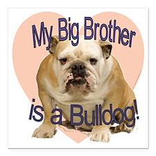 "bulldog bro.gif Square Car Magnet 3"" x 3"""