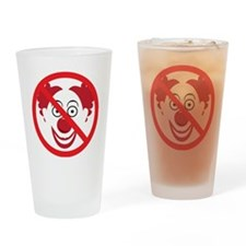 NoClowns Drinking Glass