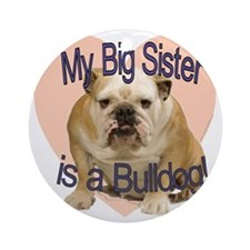 bulldog sis.gif Round Ornament