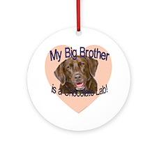 choc lab bro.gif Round Ornament