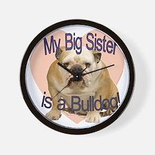 bulldog sis.gif Wall Clock