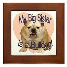 bulldog sis.gif Framed Tile