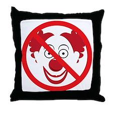 NoClowns Throw Pillow