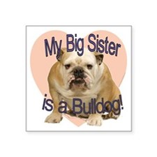 "bulldog sis.gif Square Sticker 3"" x 3"""