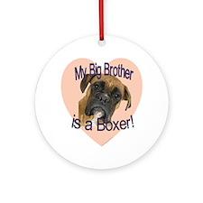 boxer bro.gif Round Ornament