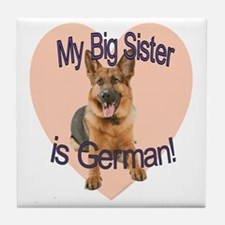 german sis.gif Tile Coaster