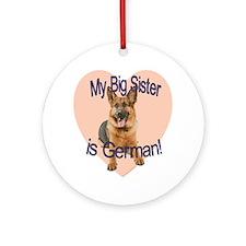 german sis.gif Round Ornament
