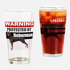 pro doberman.gif Drinking Glass