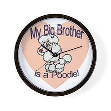 poodle white bro.gif Wall Clock
