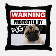 pro pug Throw Pillow