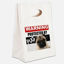 pro pug Canvas Lunch Tote