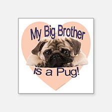 """pug bro.gif Square Sticker 3"""" x 3"""""""