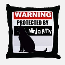 pro ninja black.gif Throw Pillow