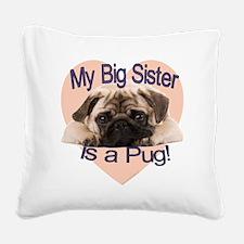 pug sis.gif Square Canvas Pillow