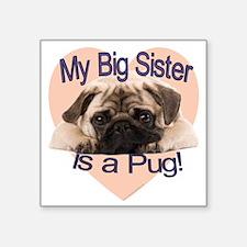 """pug sis.gif Square Sticker 3"""" x 3"""""""