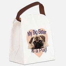 pug sis.gif Canvas Lunch Bag