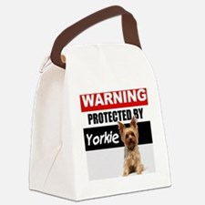 pro yorkie Canvas Lunch Bag