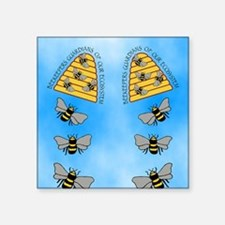 "beekeepers fflop Square Sticker 3"" x 3"""