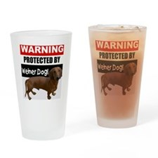 pro weiner dog.gif Drinking Glass