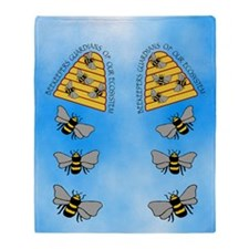 beekeepers fflop Throw Blanket