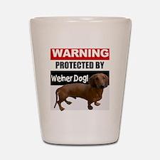 pro weiner dog.gif Shot Glass
